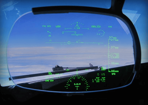 Heads Up Display CRT